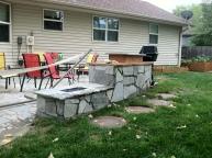 Outdoor kitchen rear